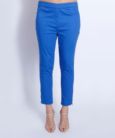 Another great find on #zulily! Electric Blue Crop Pants - Plus Too #zulilyfinds