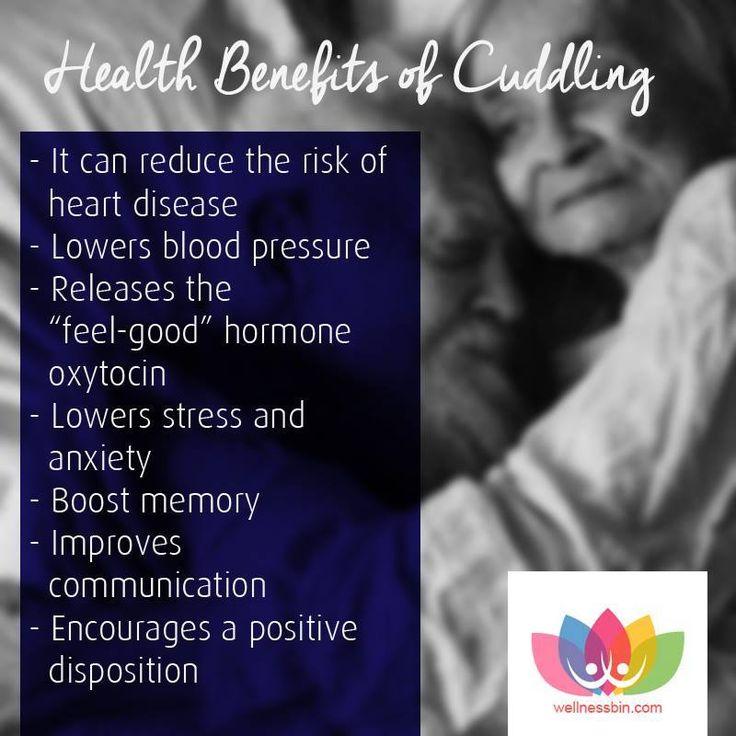 Health Benefits of Cuddling via www.wellnessbin.com