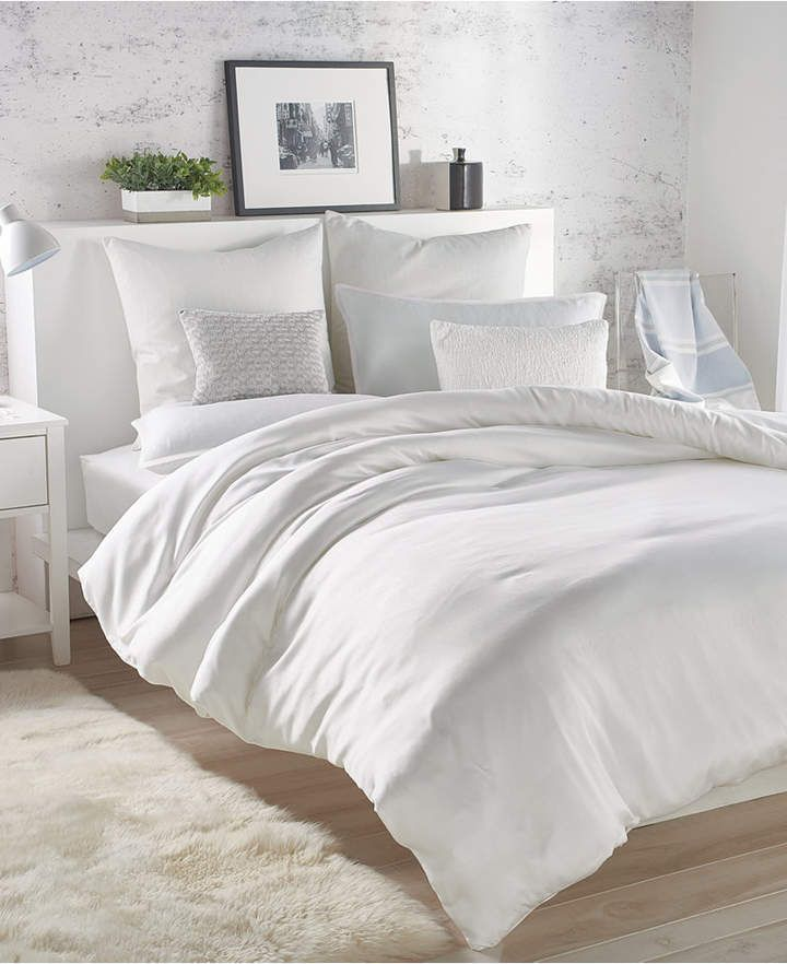 Dkny Eco Wash Full Queen Duvet Cover Bedding Ad Homedecor Homestyle Homedecorideas Bedroo White Bedding White Duvet Covers Interior Design Bedroom Teenage
