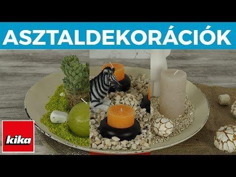 Asztaldekorációk Háromféleképpen | Kika Magyarország - YouTube