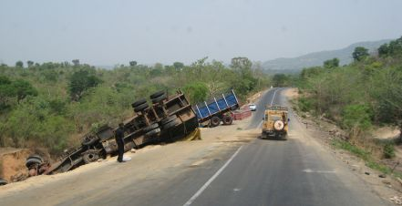 Another crashed truck