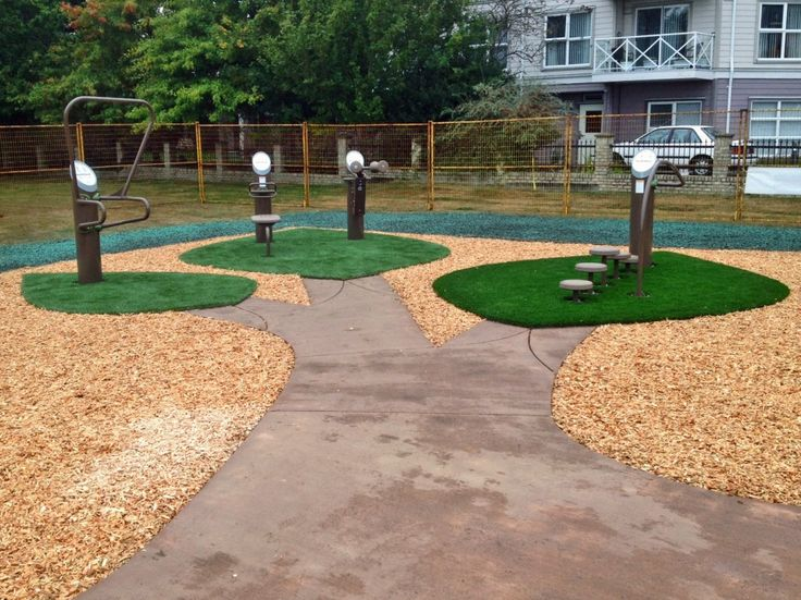 Anderton Park - Comox, BC  Landscape Structures HealthBeat Outdoor Fitness equipment