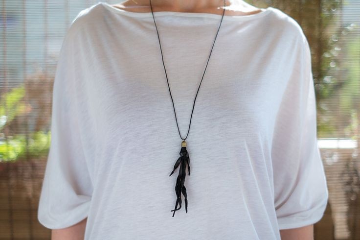 Long Necklaces – Skórzany wisiorek 07 – a unique product by AB-art-studio on DaWanda
