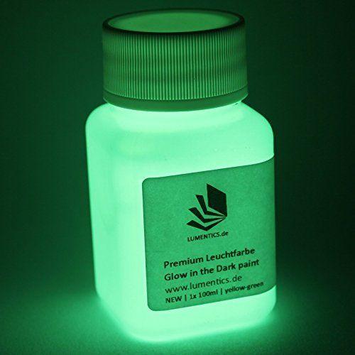 neon nights Selbstleuchtendes Farbpulver | Nachleuchtende Night-Glow Pigmente | Phosphoreszierendes Glühpulver (Farbe: gelb - grün)