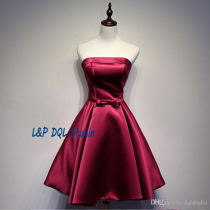 2017 Summer Party Dresses Strapless Lace-up Back Satin Cocktail Dresses Dark Red,Light Gray,Royal Blue Party Gowns Cheap Cocktail Party Dresses Party Dresses Black Party Dresses Online with $99.0/Piece on Dqlstudio's Store   DHgate.com