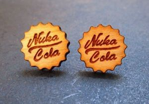 Fall Out Nuka Cola Bottle Cap Shaped Laser Engraved Cherry Wood ...
