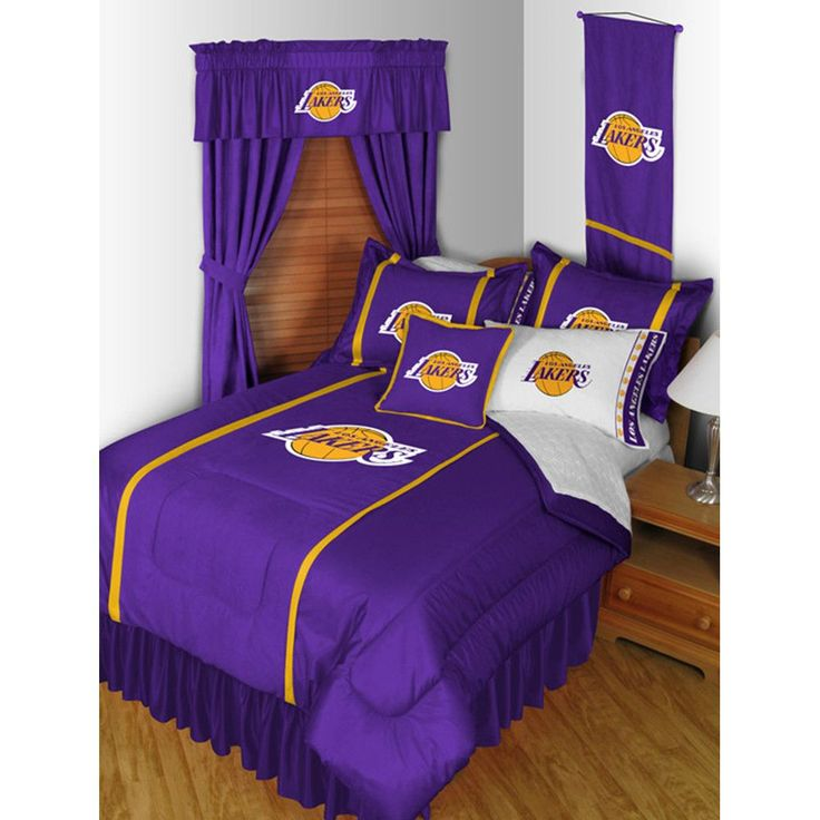 los angeles lakers nba side line collection bed complete setfull