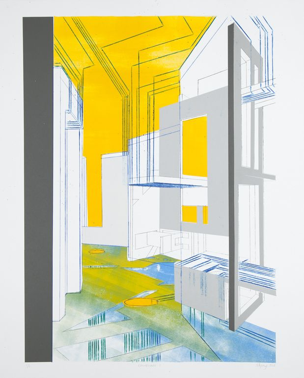 Beth Armstrong, 'Convergence', Chine Collé, Monotype, 2013.