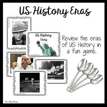best middle school us history ideas history  eras of us history since 1877 review game