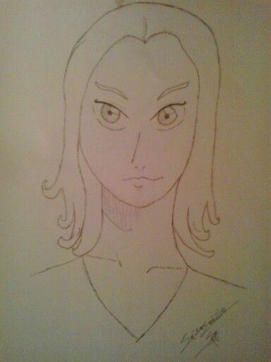 Retrato manga. Aun estoy empezando.
