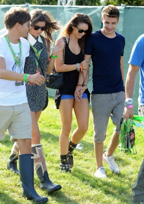 double date .. Liam  Danielle's intertwined hands  arms
