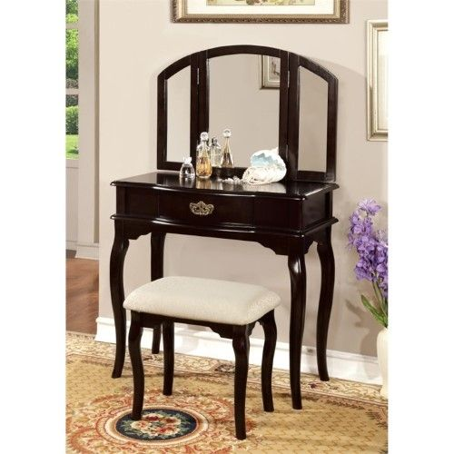 Best Furniture Of America Lizzingly Vanity Set With Stool In 640 x 480