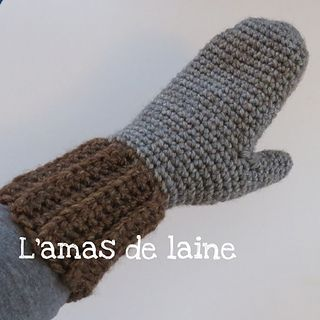 Crochet Pattern Obsidian Mittens - hands, winter - This pattern comes in 3 sizes, perfect for the winter. By L'amas de laine