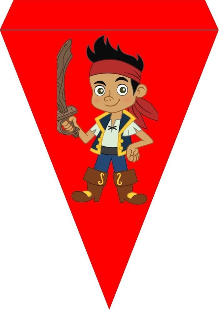 Jack the pirate bursdag vimpel DIY - gratis trykksaker