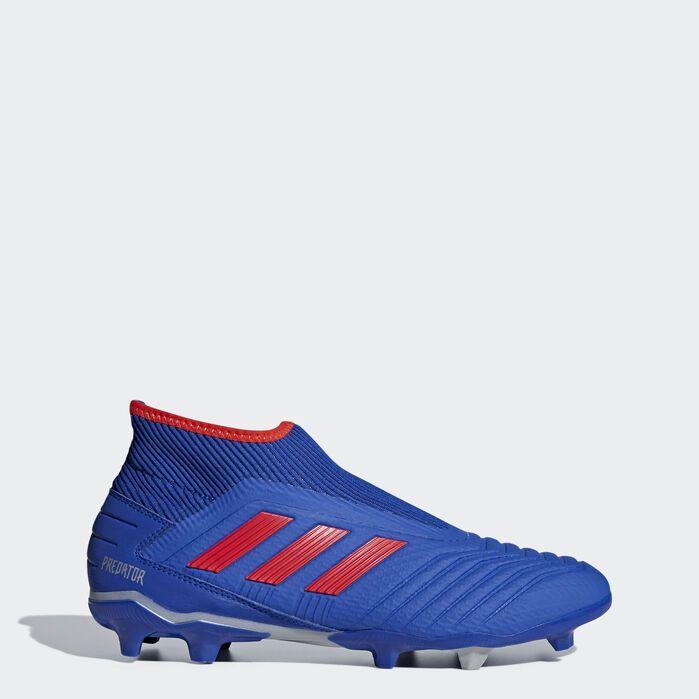Predator 19.3 Laceless Firm Ground Cleats Blue Mens   Adidas