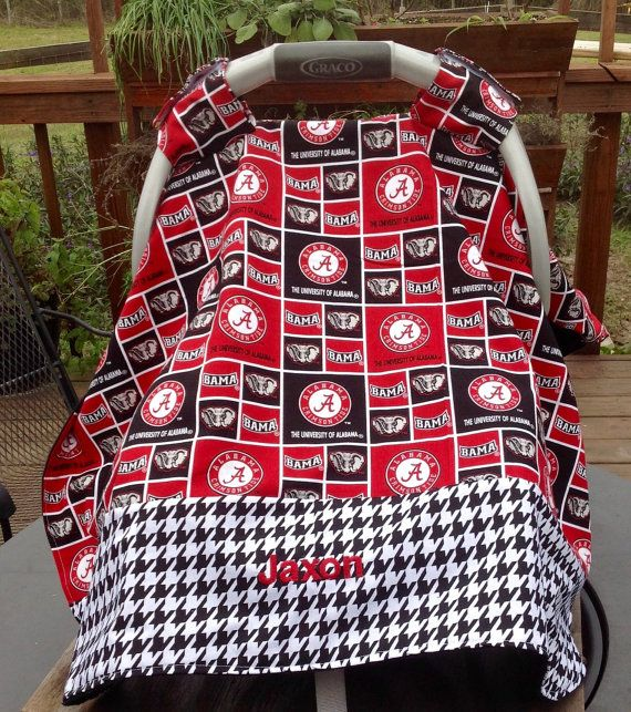 University of Alabama Inspired Infant Seat Canopy/Car Seat/Tent Cover