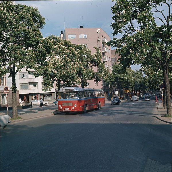 Bygdøy Allè, Oslo, Norway. Spring 1967. Gimle Cinema in the background. Photo: Paul A. Røstad / Owner: DEXTRA Photo