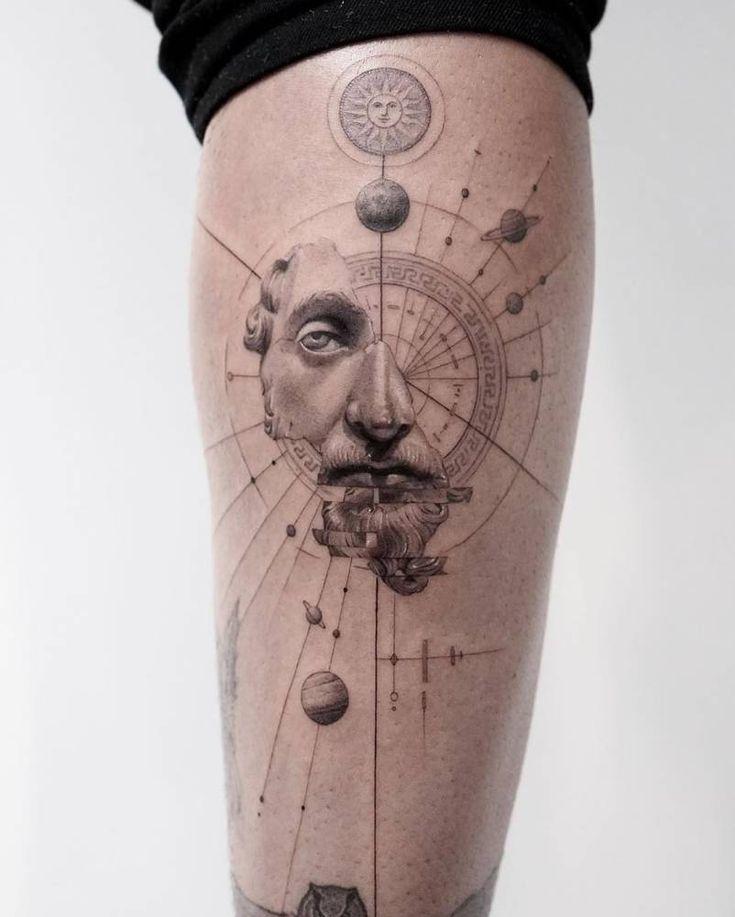 The Marcus Aurelius????..✍???? for @alexcosta Line Tattoos, Skull Tattoos, Sleeve Tattoos, Cool Tattoos, Tatoos, Geometric Tattoo Wrist, Spaceship Tattoo, Secret Tattoo, Tattoo Brazo