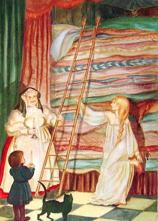 The Real Princess 1945 Fairy Tale Illustration Tasha Tudor Hans Christian Andersen