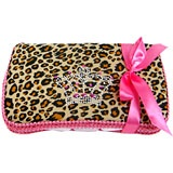 Cheetah with Bling Crown Travel Wipe Case