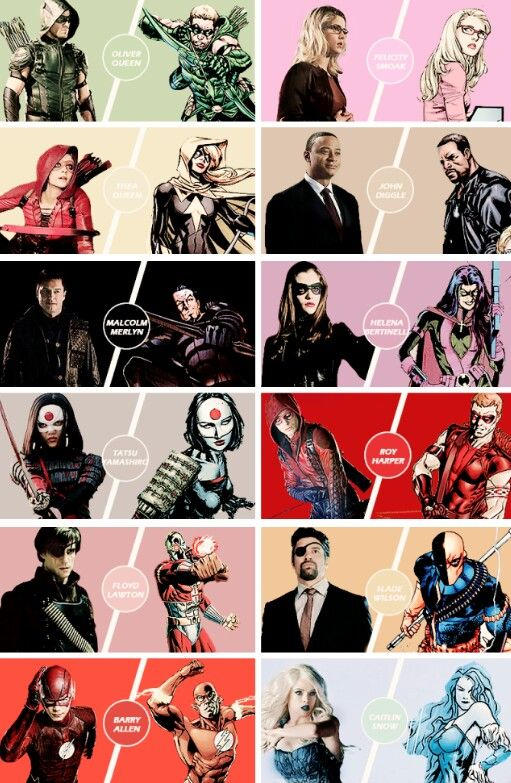 Flash and Arrow universes