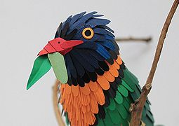 Colourful Paper Birds by Diana Beltran Herrera