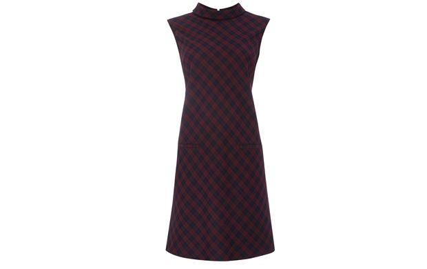 High Neck Checked Dress - Womenswear  - Tu Clothing At Sainsbury's