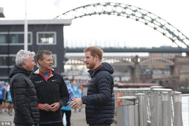 Important cause: The trio will be taking the coaching session for competitors from across the North East and Scotland running for mental health charity Heads Together