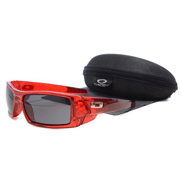 red and black oakleys  $15.99 Cheap Oakley Gascan Sunglasses Smoky Lens Clear Red Frames ...