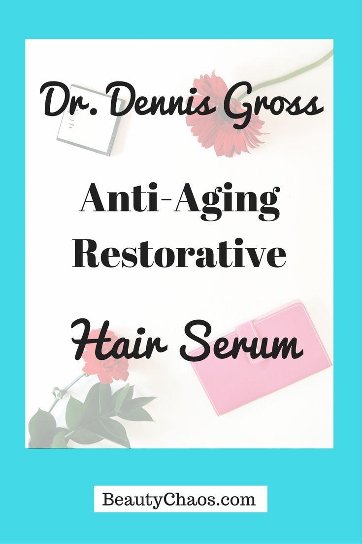 REVIEW: Dr. Dennis Gross Anti-Aging Restorative Hair Serum | BeautyChaos.com #antiaging #hairserum #drdennisgross