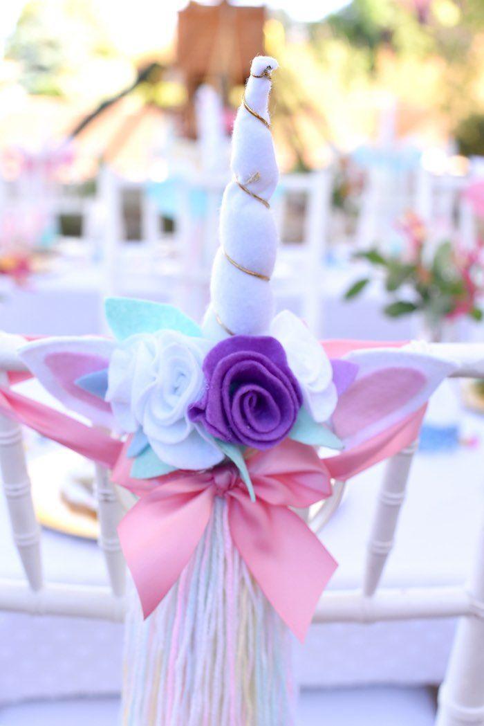 Unicorn horn + tail favors from a Pastel Unicorn Themed Birthday Party via Kara's Party Ideas | KarasPartyIdeas.com (35)