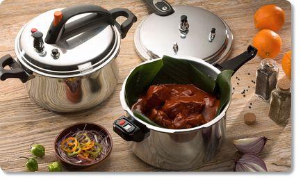 Las ollas a presión Cinsa te permitirán cocinar al vapor y sin oxígeno conservando vitaminas y nutrientes de los alimentos