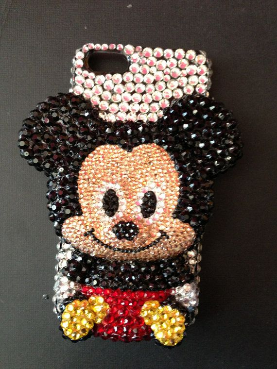 Mickey Mouse Inspired Rhinestone Phone Case by ApplezJewelry, $45.00