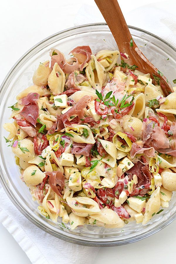 Pasta Salad with Smoked Mozzarella and Prosciutto | 17 Beautiful Summer Side Dishes To Bring To A Picnic Or Barbecue