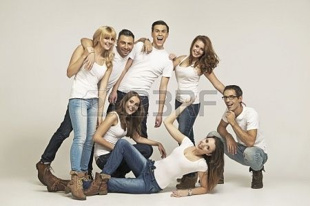 Gran grupo de personas riendo Foto de archivo - 24209901