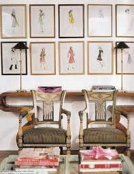 i would have my best fashion designs around my office in frames