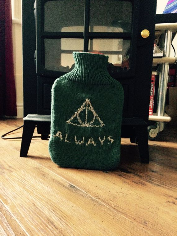Slytherin Deathly Hallows Hot Water Bottle  Harry Potter