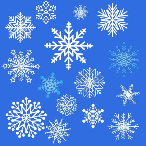 72 pictogrammes de flocons de neige GRATUITS! FREE Snowflake Cliparts!