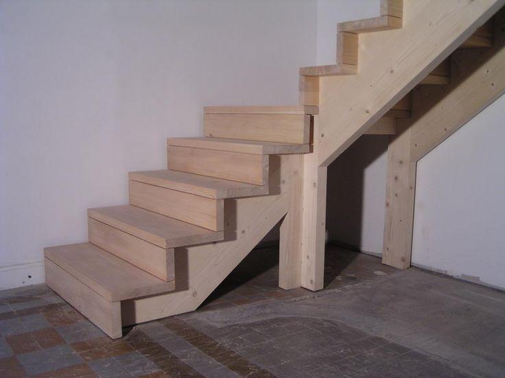 04-03 Escalier 1/4 tournant avec palier et contre marche « Espace Bois