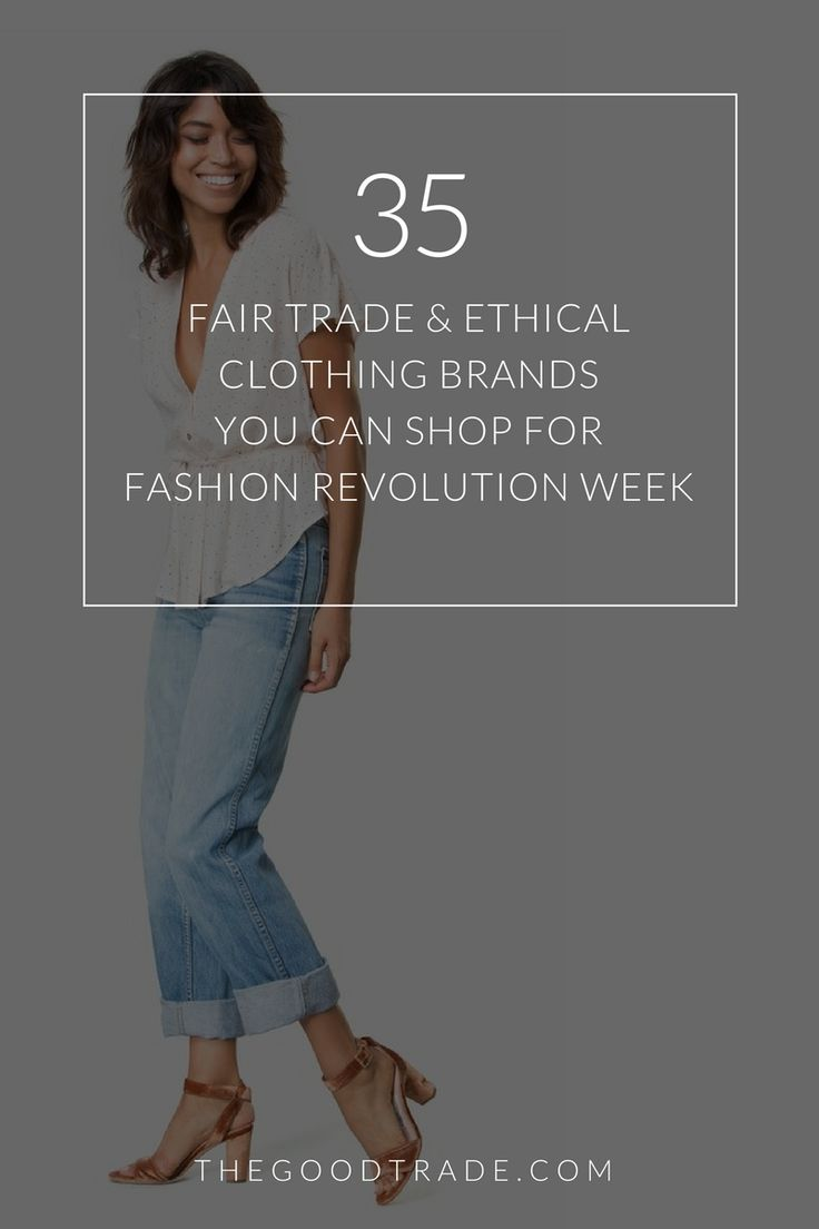 35 Fair Trade & Ethical Clothing Brands Betting Against Fast Fashion | Check out these lovely socially responsible brands for #FashionRevolution Week!