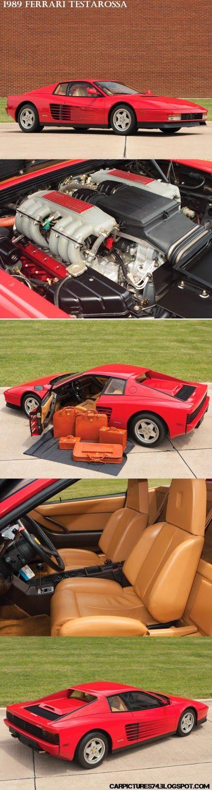 Car Pictures: 1989 Ferrari Testarossa. Visit: http://carpictures74.blogspot.com/