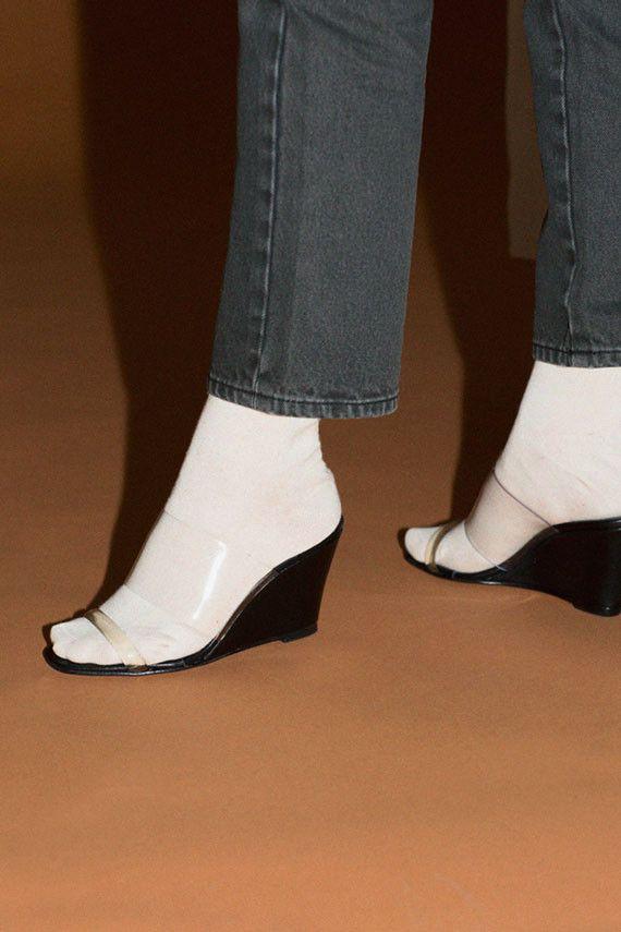 b914e1e13b7 Maryam Nassir Zadeh Shoes - Black Calf Olympia Wedge