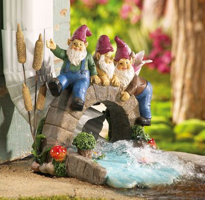 Love to hide gnomes in the garden where you find them by surprise - under a bush - behind a tree - they are shy creatures you know.