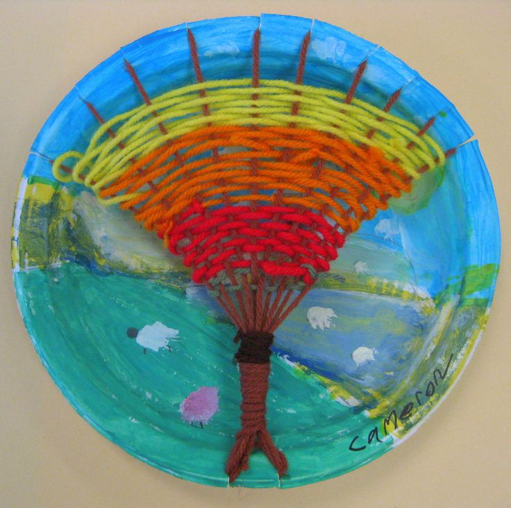 Cassie Stephens: In the Art Room: Tree Weaving with Third Grade...totally want to do this for fall!