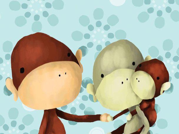 The Monkeys Three Canvas Art