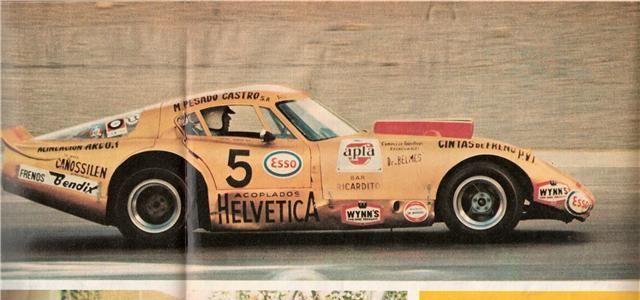 Trueno Dorado, Chevrolet. Constructor Horacio Steven, Piloto Oscar Cacho Fangio