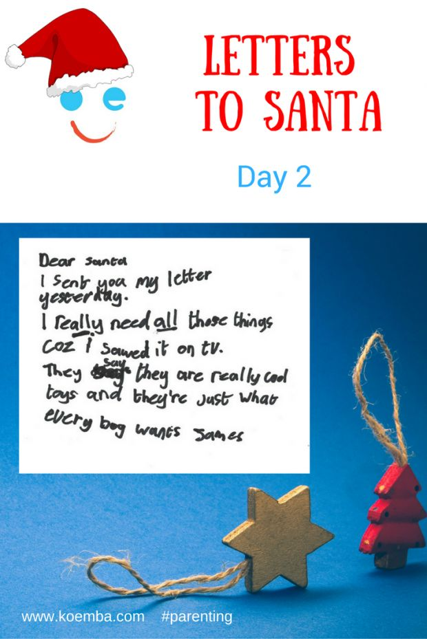 Does my child need all this! Helpful advice for parents with love from Santa. #ChristmasList #Christmas  #parenting #LettersToSanta