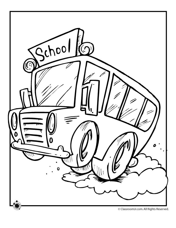 13 best Bus Coloring Pages images on Pinterest | Kids net ...