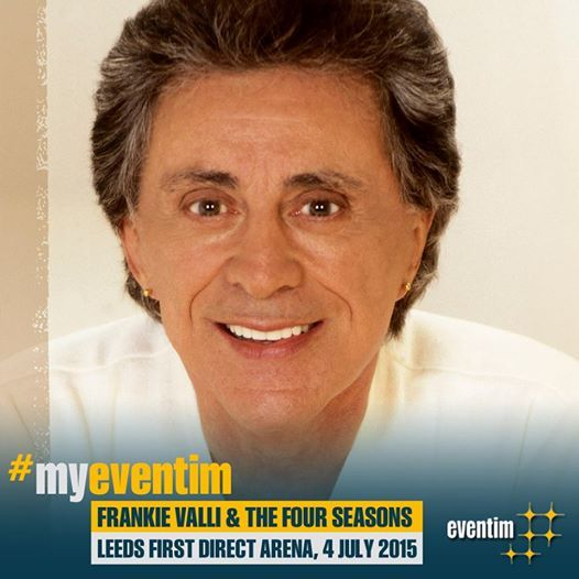 The powerful falsetto of Frankie Valli & the Four Seasons will entertain at the Leeds first direct arena, July 4th 2015 - tickets on sale Friday at 9am.  To set your #TicketAlarm notification for this event by visiting our website