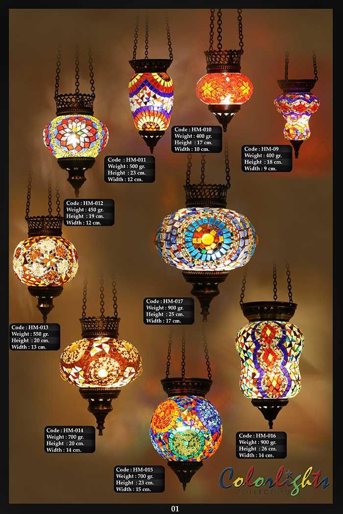 Mosaic Lamps Ottoman Lamps Turkish Lighting